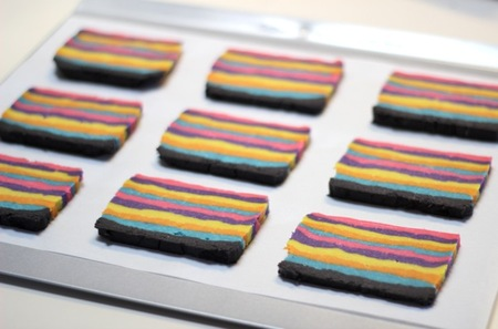 Place slices on a lined baking sheet