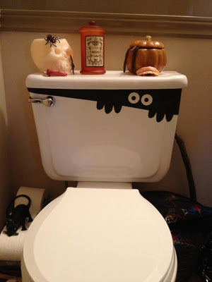Spooked out toilet