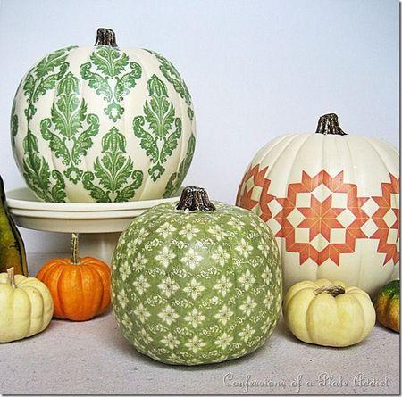 Country Living stencil pumpkin