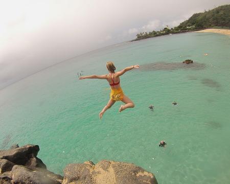 Caroline Sunshine takes the leap!