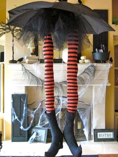 Whimsical witches legs