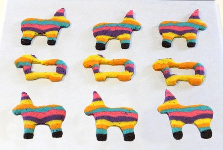 Let the piñata cookies cool