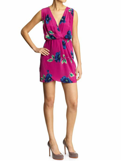 Amanda Uprichard Crystal Floral Print Dress