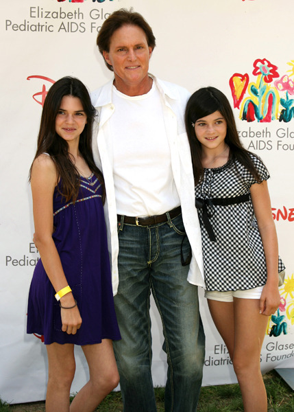 Kylie and Kendall with their dad, Bruce Jenner, in 2008.