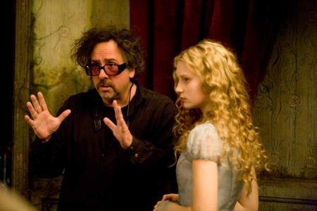 Tim Burton & Mia Wasikowska