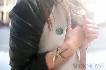DIY Starfish cuff bracelet