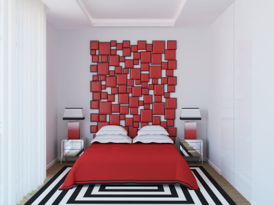 3D art headboard - Bedroom headboard ideas