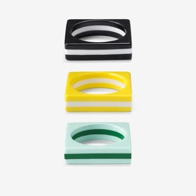 Circle in square bracelet