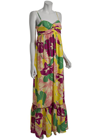 Shoshanna floral silk maxi dress