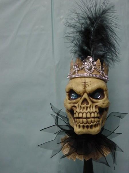 Skull on a stick