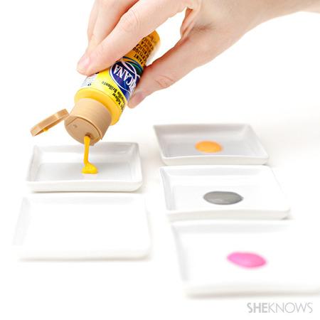 Pour your paint