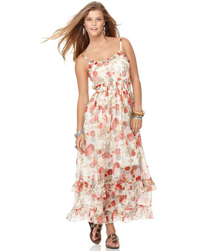 American Rag floral ruffle maxi dress