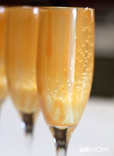 A glass of bubbly