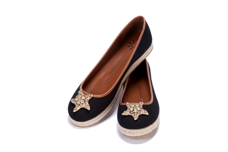 Star Flat Espadrille with Starfish Ornament