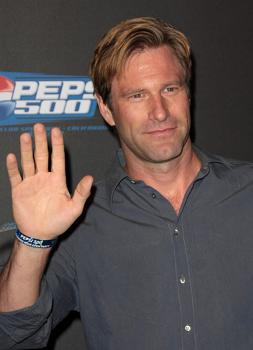 "Aaron Eckhart at ""Pepsi 500: Running Wide Open"" Party"