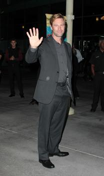 "Aaron Eckhart at ""Towelhead"" premiere"