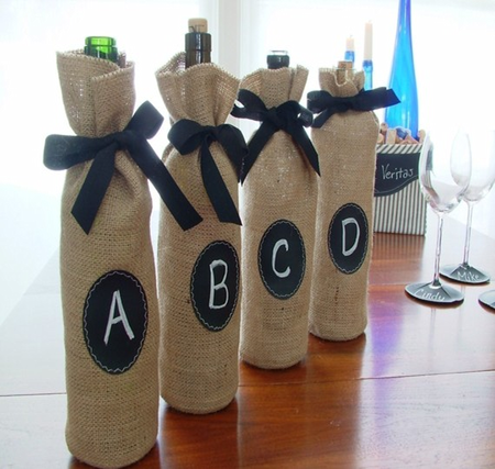 Personalized bottle of wine