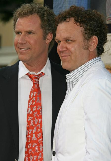 Actors Will Ferrell and John C. Reilly at the Step Brothers premiere