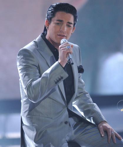 Adam Lambert singing on American Idol