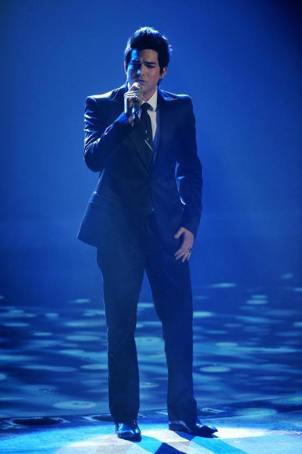 American Idol contestant Adam Lambert in top five