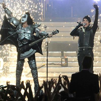 Lambert and KISS rock Season Eight finale