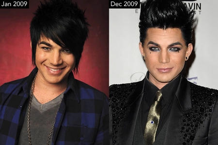 Adam Lambert Then and Now