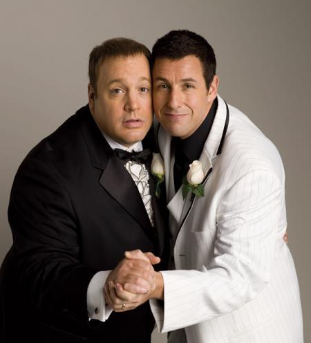 Adam Sandler and Kevin James dance at their wedding