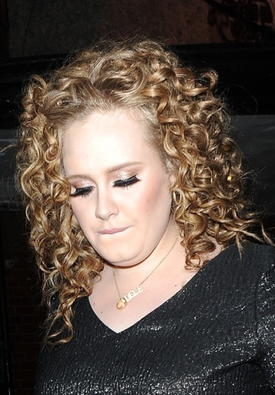 Adele with bangs