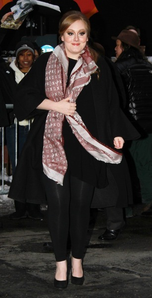Adele in a scarf