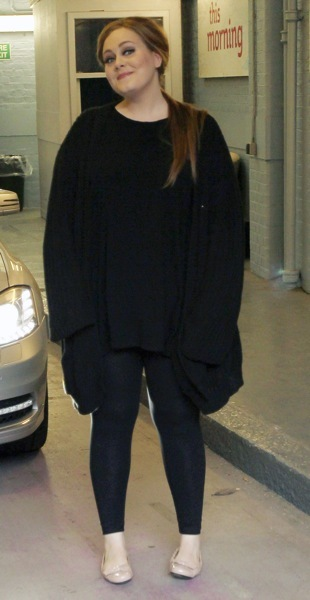 Adele in a pancho