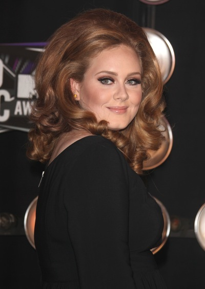 Adele with big hair