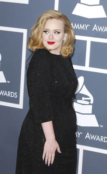 Adele arrives at Grammys