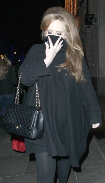 Adele with teased hair