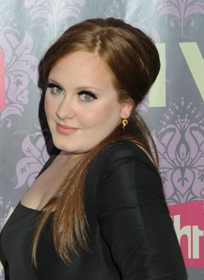 Adele in a ponytail