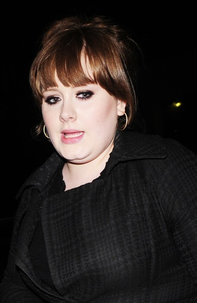 Adele with large earings