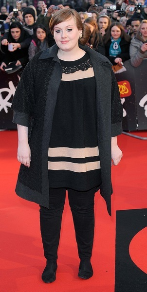 Adele in stripes