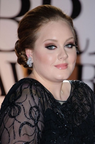 Adele with a braided bun