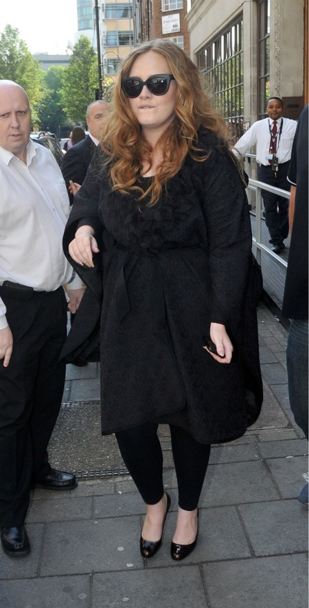 Adele at BBC Radio 1 Studios