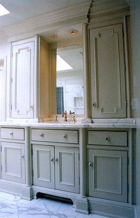 Formal bathroom cabinetry