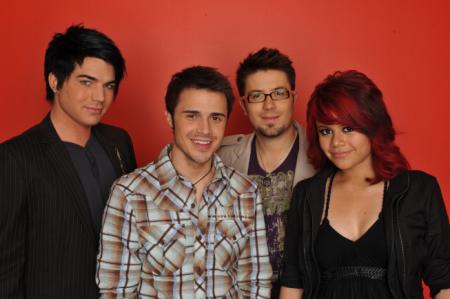 Adam Lambert, Kris Allen, Danny Gokey and Allison Iraheta