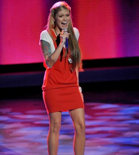 Megan Joy performing on American Idol