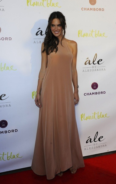 Alessandra Ambrosio in a nude gown