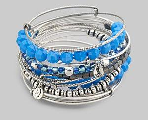 Alex and Ani Neon Blue Bangle Set