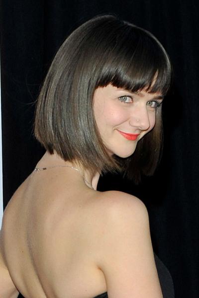 Alexandra Ella's chic, bob hairstyle