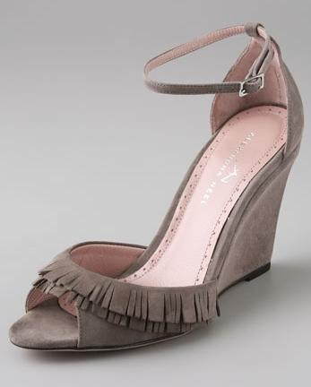 Alexandra Neel Fringe Wedge Sandals