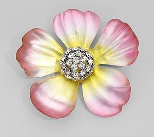Alexis Bittar Flower Brooch