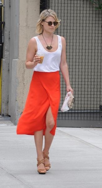Ali Larter steps out in orange