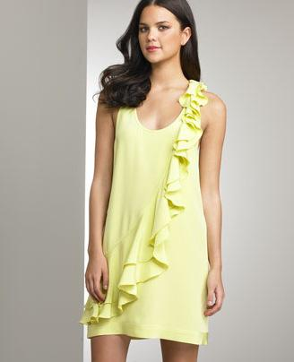 Ali Ro Ruffled Tank Dress