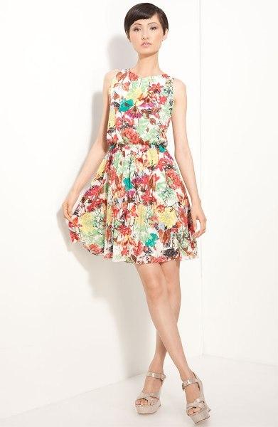 Alina Floral Print Dress