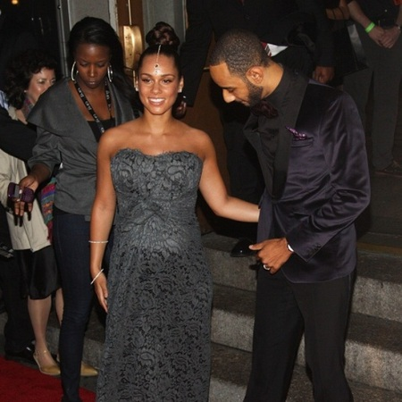 Alicia Keys, Swizz Beatz attend Black Ball
